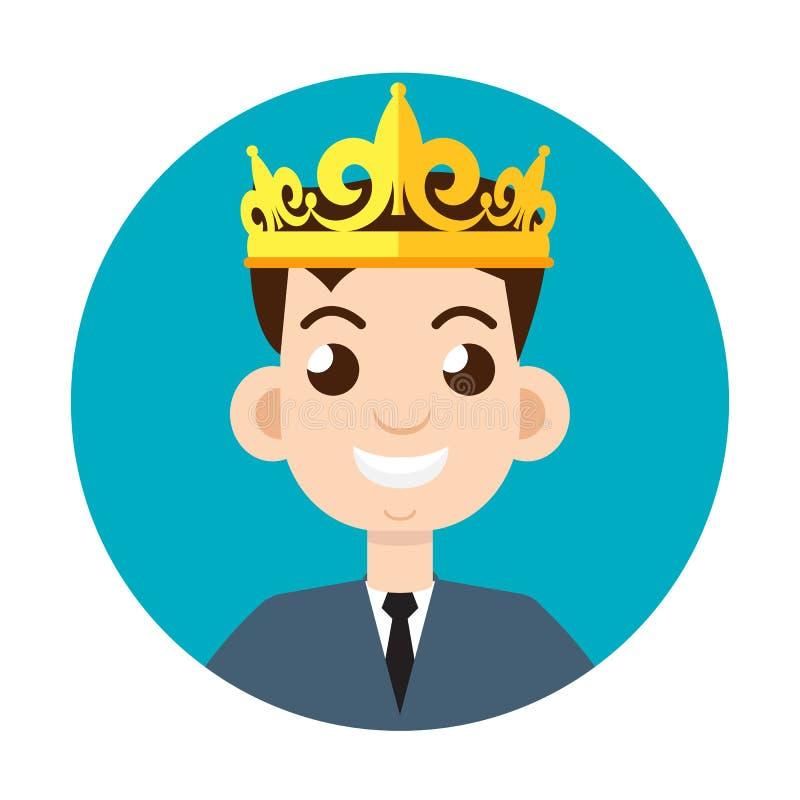 Coroa do homem de negócios, uma autoavaliação alta Ilustração do vetor ilustração stock