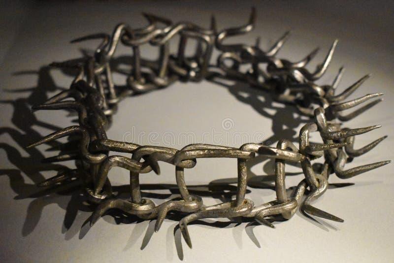 Coroa do metal de espinhos imagem de stock royalty free