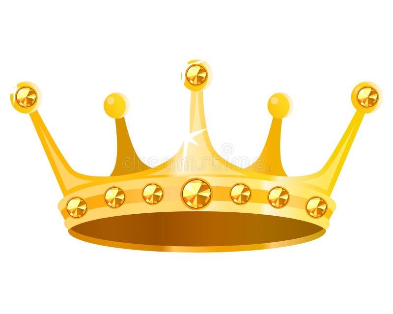 Coroa do ouro ilustração royalty free
