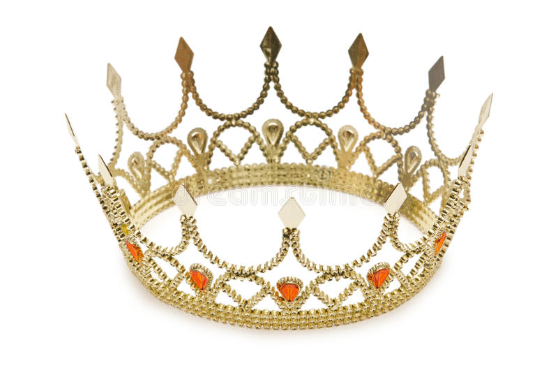 Coroa do ouro imagem de stock royalty free