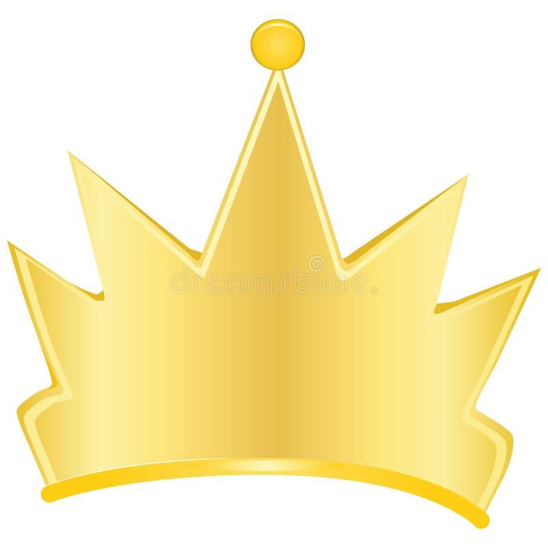 Coroa do ouro ilustração stock