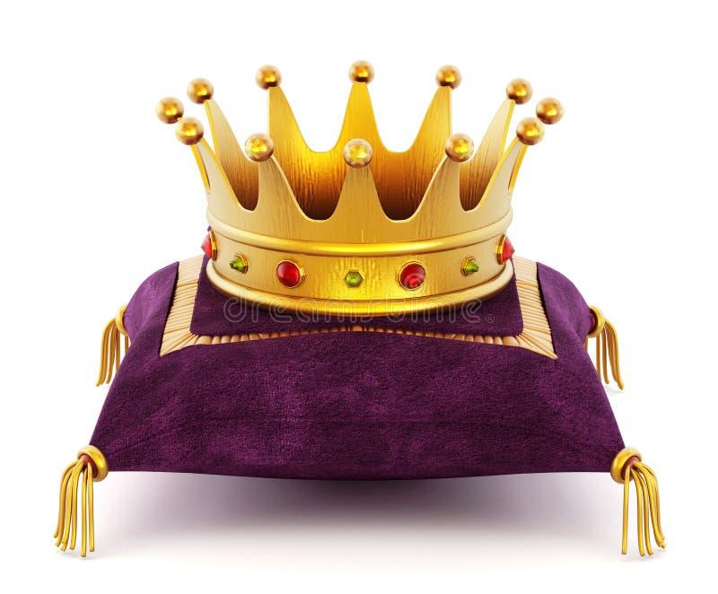 Coroa do ouro no descanso ilustração do vetor