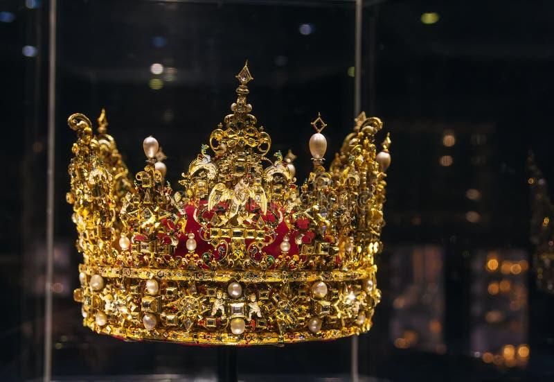 Coroa do rei Christian IV fotografia de stock royalty free