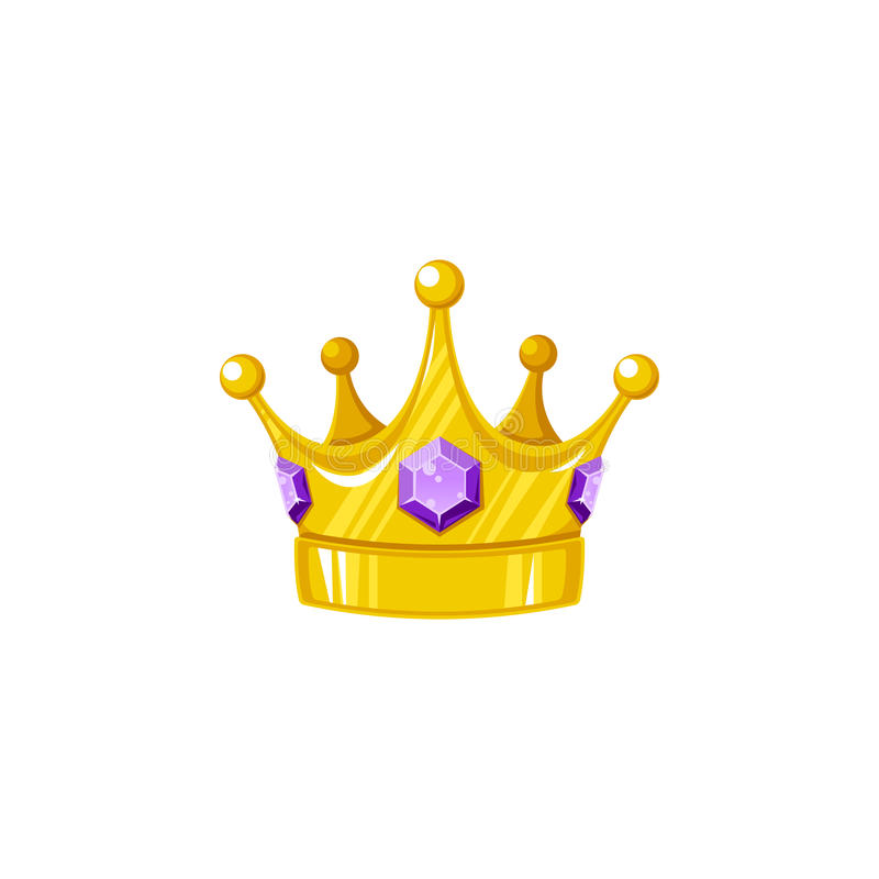 Coroa do vetor com safira ilustração royalty free