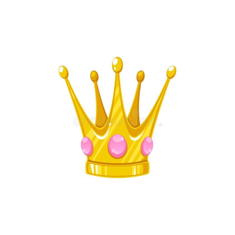 Coroa do vetor para uma princesa ilustração do vetor