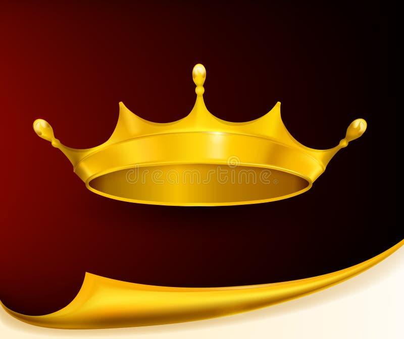 Coroa dourada ilustração royalty free