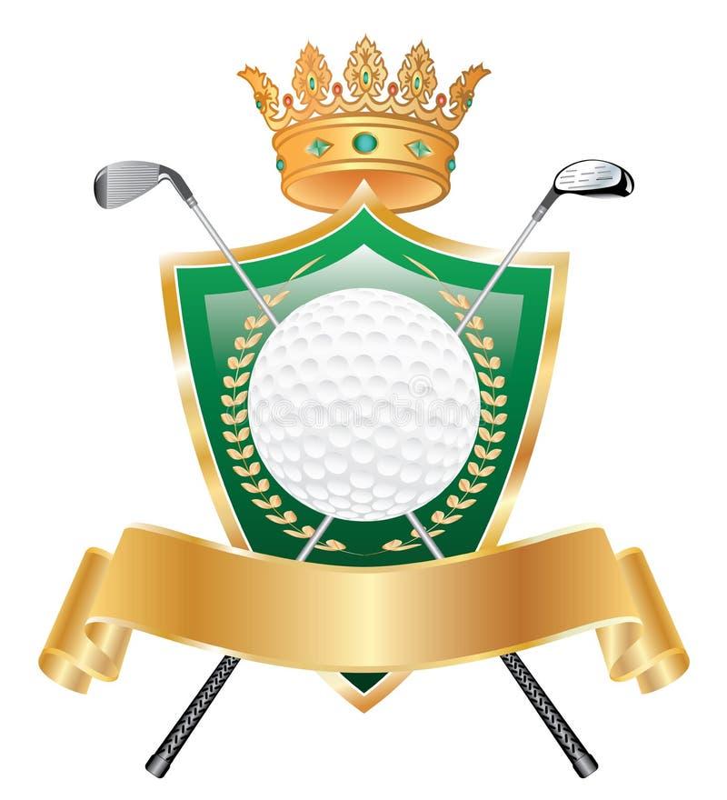 Coroa dourada do golfe ilustração royalty free