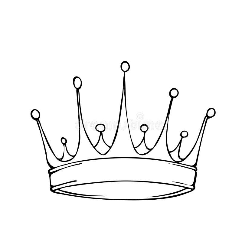 Coroa dourada do rei ilustração stock