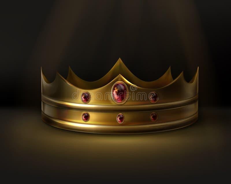 Coroa dourada do vetor ilustração stock