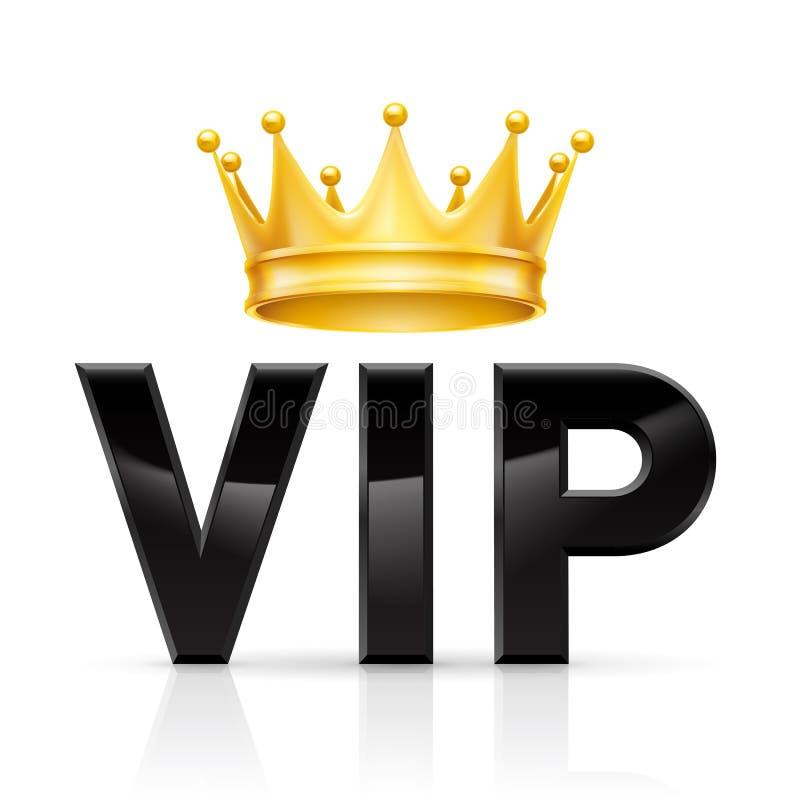 Coroa dourada do VIP ilustração stock