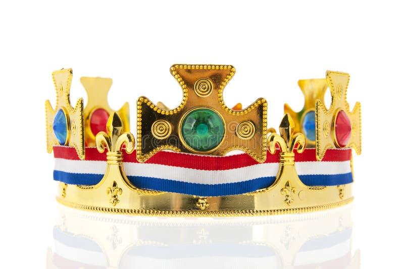 Coroa dourada holandesa para o rei fotografia de stock royalty free