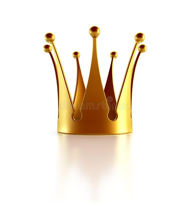 Coroa dourada isolada ilustração stock