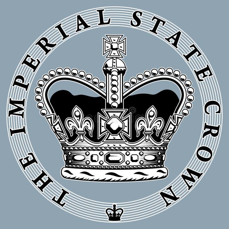 Coroa imperial. ilustração royalty free