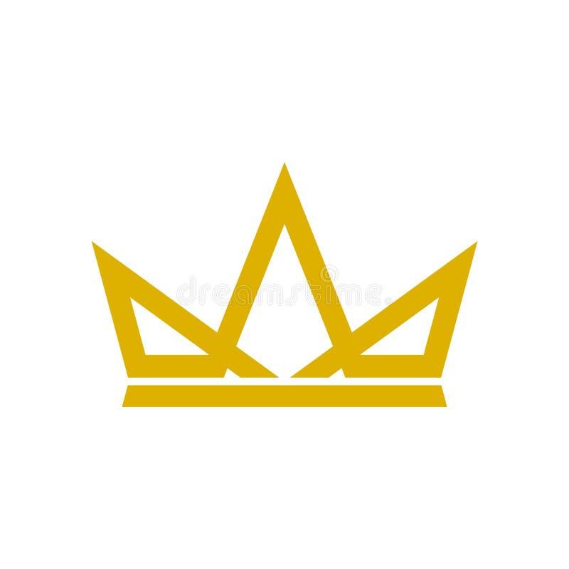 A coroa Logo Template, coroa o ícone simples ilustração stock