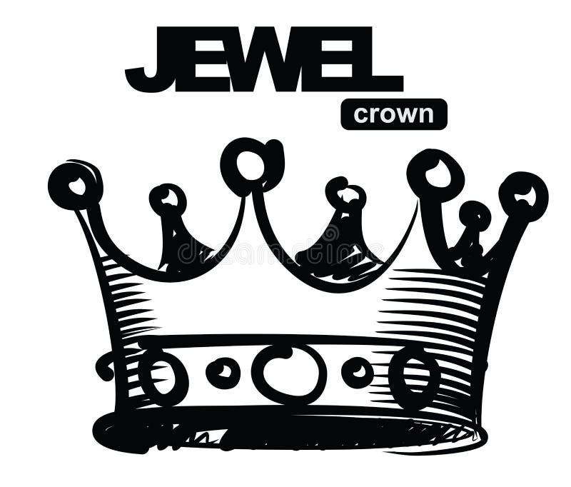 Coroa preta ilustração royalty free