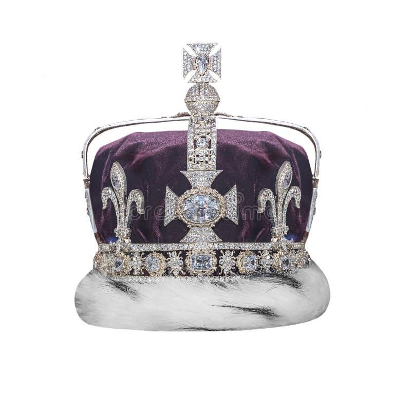 Coroa real com joias fotos de stock royalty free