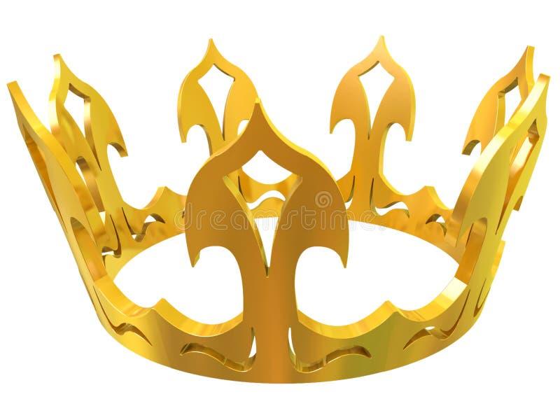 Coroa real do ouro ilustração stock