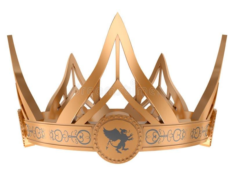 Coroa real do ouro ilustração do vetor