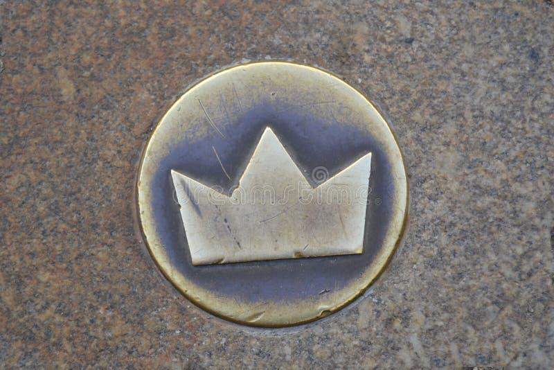 Coroa real dourada foto de stock