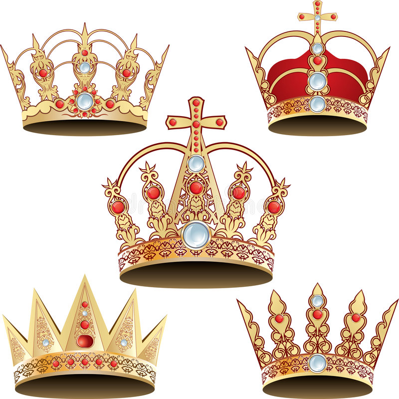 Coroa Vectorized ilustração stock