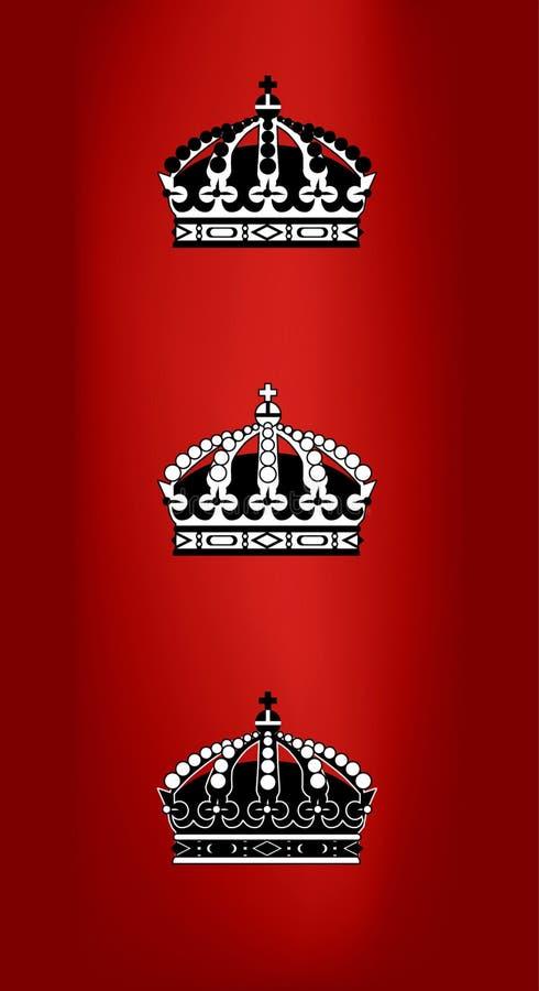 Coroas ilustração stock