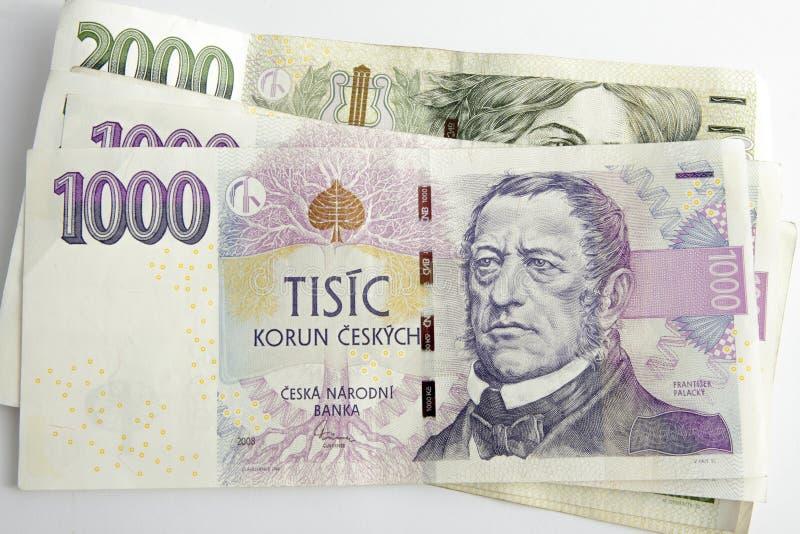 Coroas checas imagem de stock