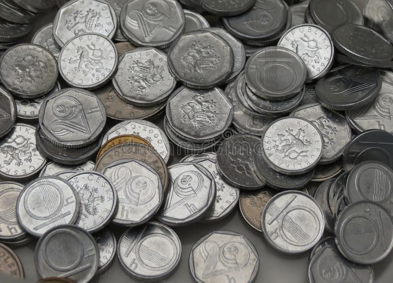 Coroas checas das moedas fotos de stock royalty free