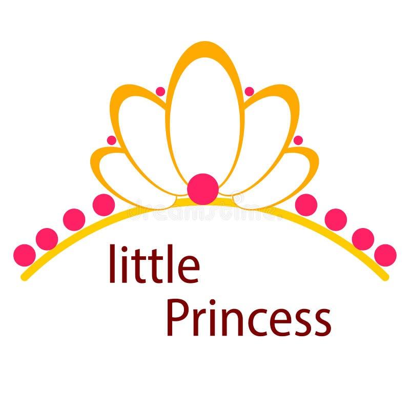 Coroas da princesa isoladas no branco Vetor ilustração do vetor