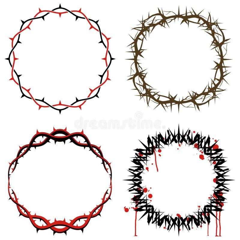 Coroas de espinhos ilustração do vetor