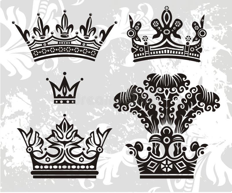 Coroas do vetor ilustração do vetor