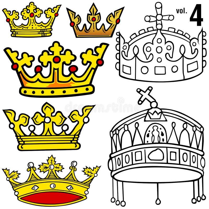Coroas reais vol.4 ilustração royalty free