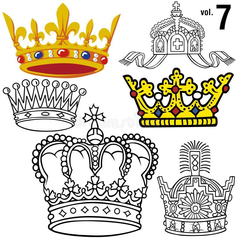 Coroas reais vol.7 ilustração do vetor