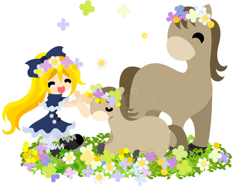 Corolla~ ~Matching dos cavalos e dos povos imagens de stock