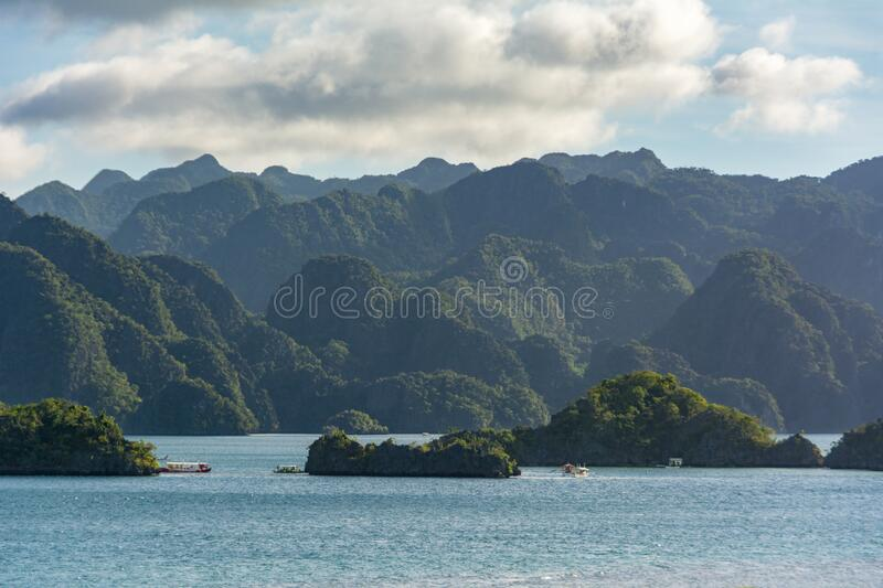 Nature 10x15 FT Backdrop Photographers,Scenic View Sea Bay and Mountain Islands in Palawan Philippines Idyllic Image Background for Child Baby Shower Photo Vinyl Studio Prop Photobooth Photoshoot