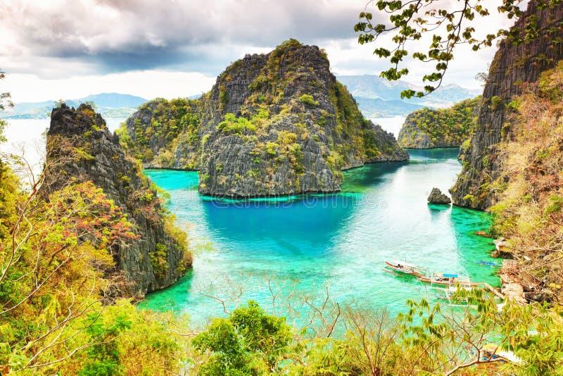 Coron Lagune stockfotos