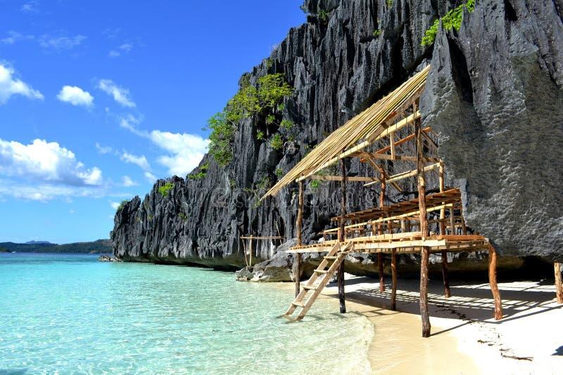 coron plażowa buda palawan Philippines fotografia royalty free
