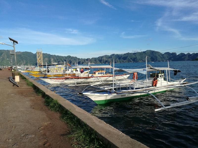 Coron portu teren obrazy royalty free