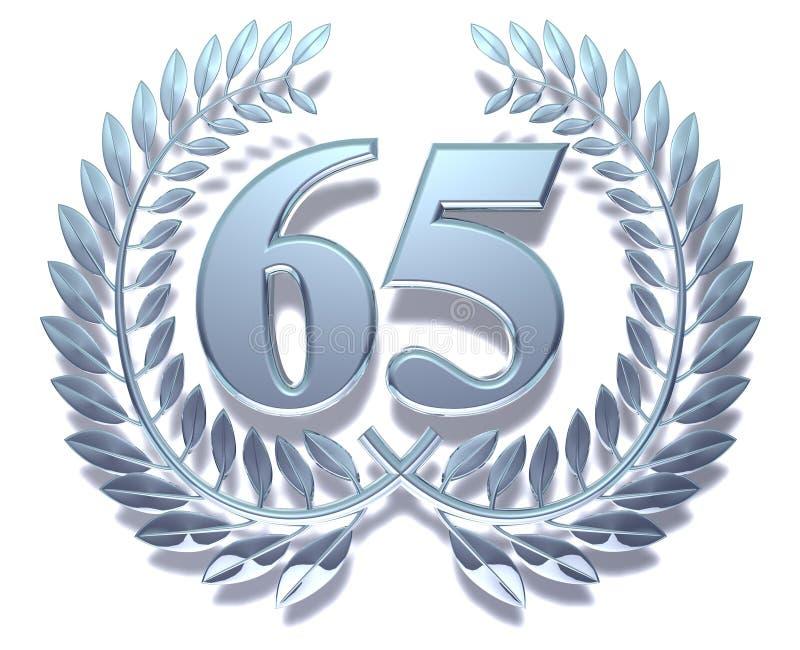 Corona 65 dell'alloro royalty illustrazione gratis