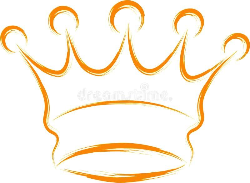 Corona abstracta stock de ilustración
