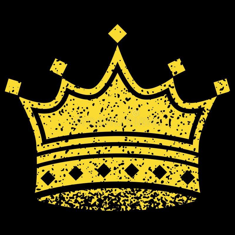 Corona amarilla stock de ilustración