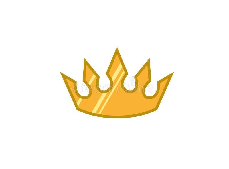 Corona amarilla creativa para el ejemplo del diseño del logotipo stock de ilustración
