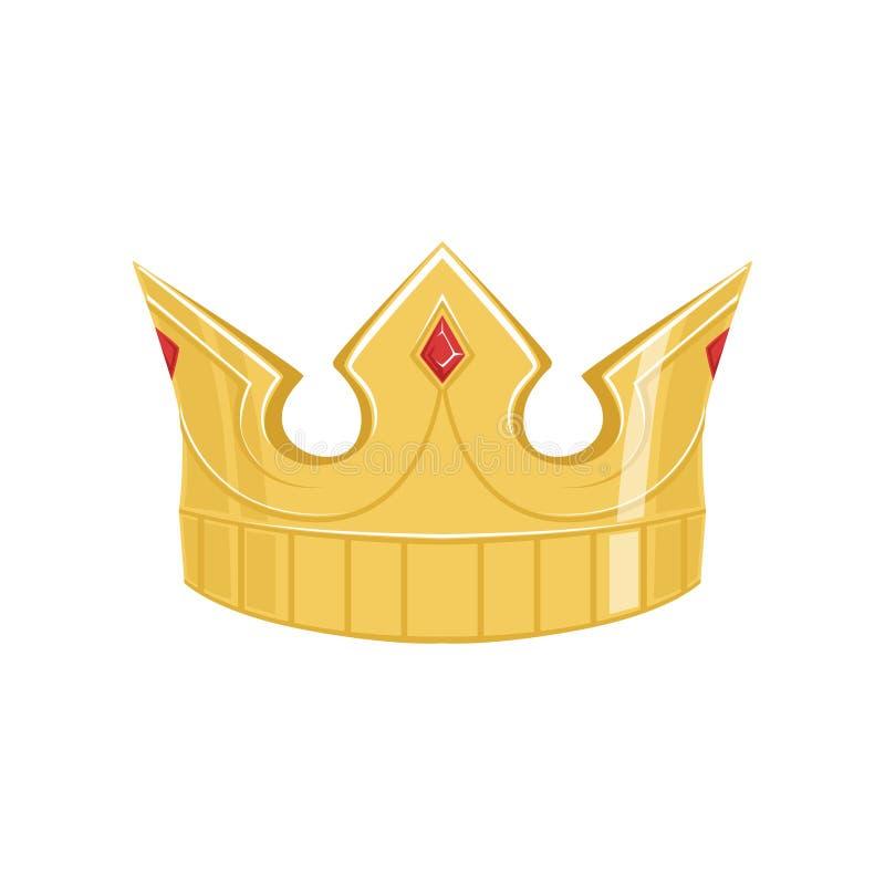 Corona antigua de oro con las piedras preciosas, ejemplo imperial heráldico clásico del vector de la muestra ilustración del vector