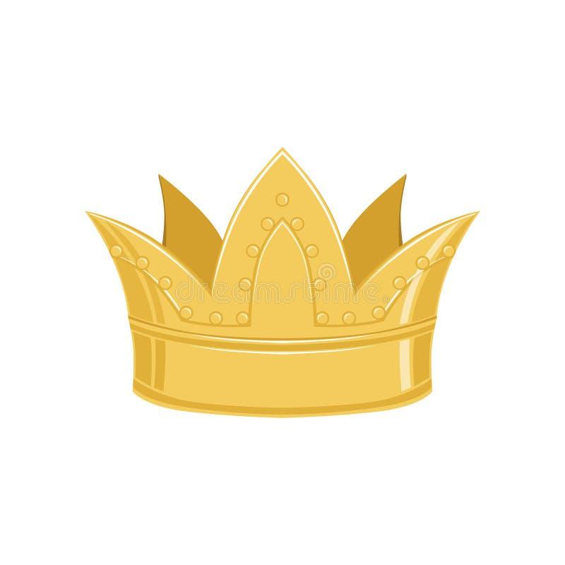 Corona antigua de oro, ejemplo imperial heráldico clásico del vector de la muestra libre illustration