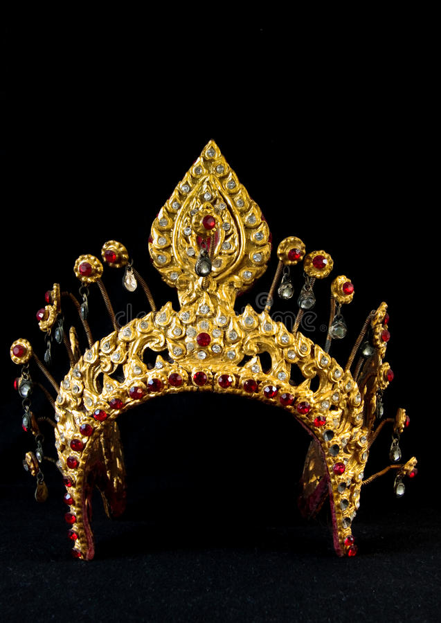 Corona antigua tailandesa fotos de archivo
