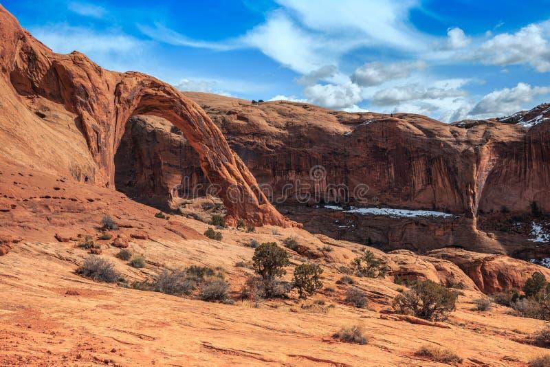 Corona Arch Landscape, Moab Utah fotografía de archivo
