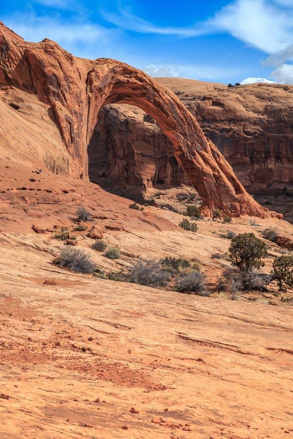 Corona Arch Landscape, Moab Utah imagen de archivo