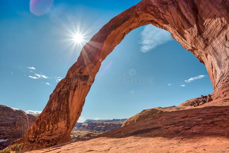 Corona Arch Landscape, Moab Utah fotografía de archivo libre de regalías