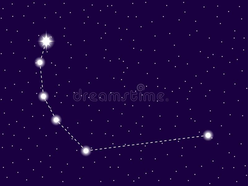 Corona Australis constellation. Starry night sky. Zodiac sign. Cluster of stars and galaxies. Deep space. Vector. Illustration vector illustration