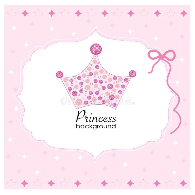 Corona con el fondo rosado de la princesa libre illustration