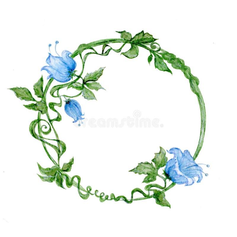 Corona con i fiori blu royalty illustrazione gratis